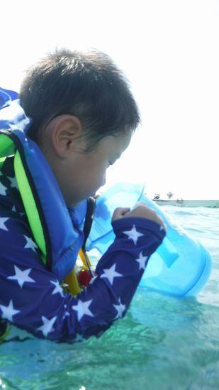慣れれば、水中を楽しんでいます。