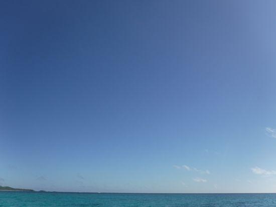 雲一つない空です