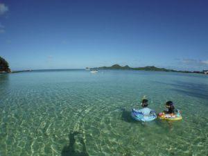 設備はとても充実!底地ビーチで海を楽しむ!