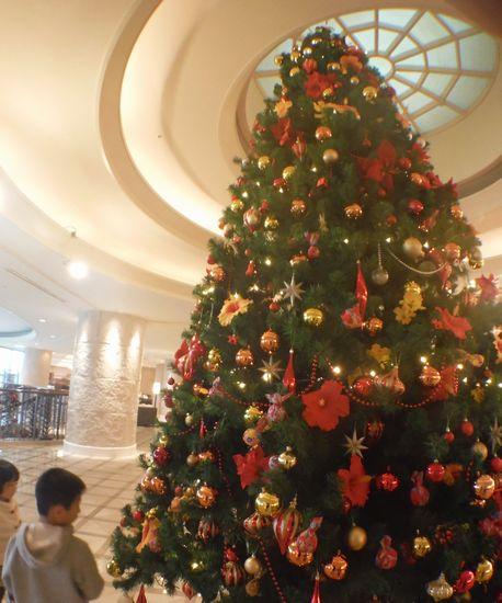 南国がテーマのクリスマスツリー