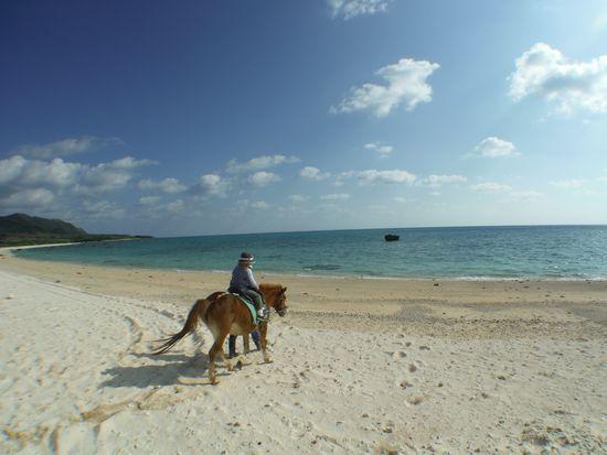 こんなキレイなビーチを乗馬なんてすばらしい