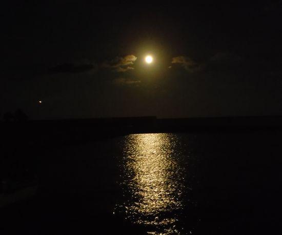 月がとても明るかったです