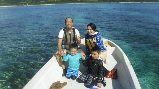 M田さんご家族です。