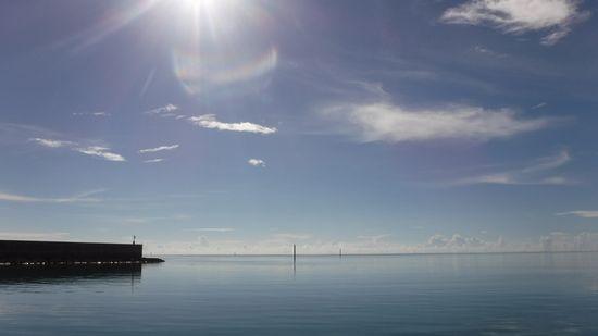穏やかな水面!シュノーケル日和です。