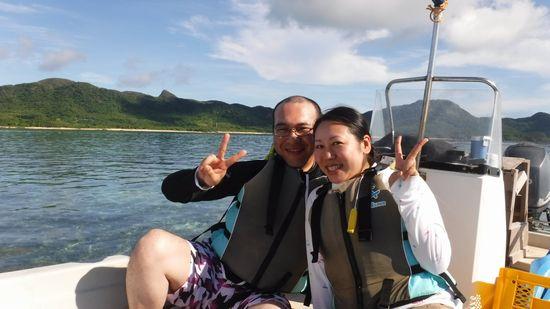 ご旅行最終日のK島さんご夫婦です
