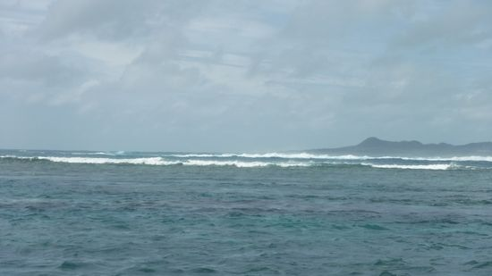 外洋は、大波です。