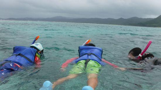まずは、プカプカ浮いて入水チェック