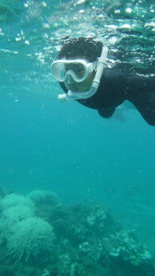 ヒナタ君、いい泳ぎです