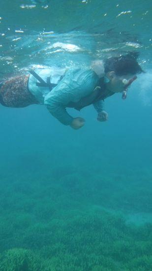 こちらも楽勝の泳ぎのH中さんです。