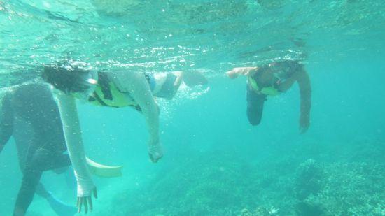 泳げないんです!とおっしゃるY中さんとS田さんです。