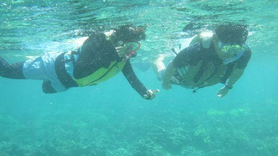 余裕泳ぎのO部さんとK藤さんです。