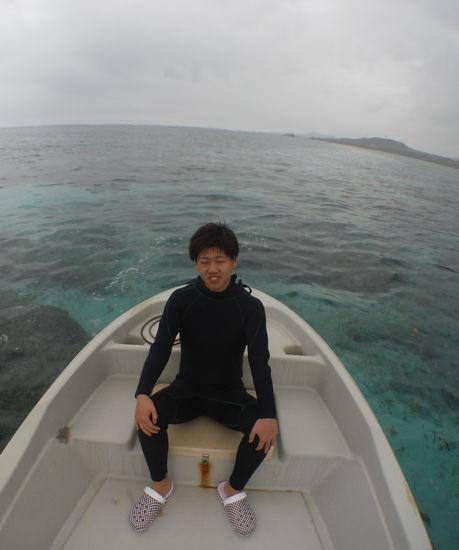 見渡す限りの海を貸切です。K川さん