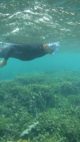 自由自在のポイントを泳ぐS木さん