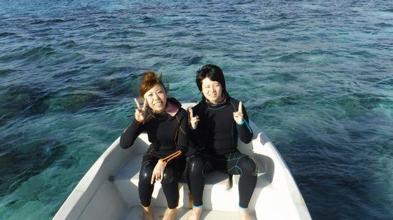 初石垣島で初シュノーケルのK坂さんとT中さんです