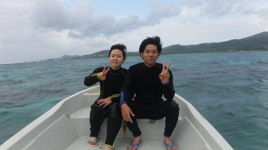 新婚旅行でお越しのK田さんご夫婦です。