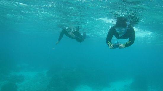 水中を思いっきり楽しみましたっ!