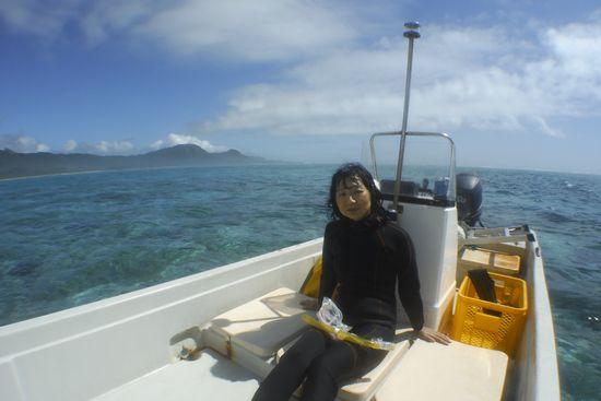 K藤さんです。海を独り占めしてきました