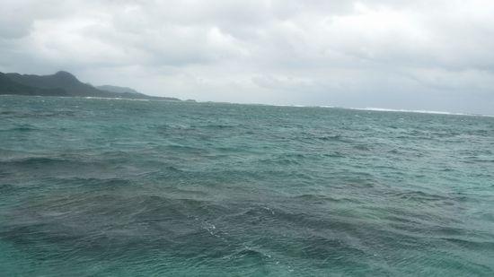 北風が強く、曇りの天気です