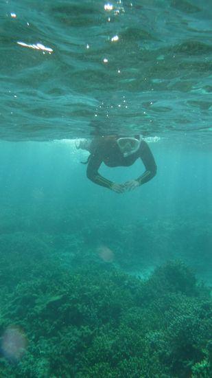 K崎さんもすいすい泳ぎます。