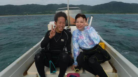 新婚旅行で、石垣島!Y谷さんご夫婦です。