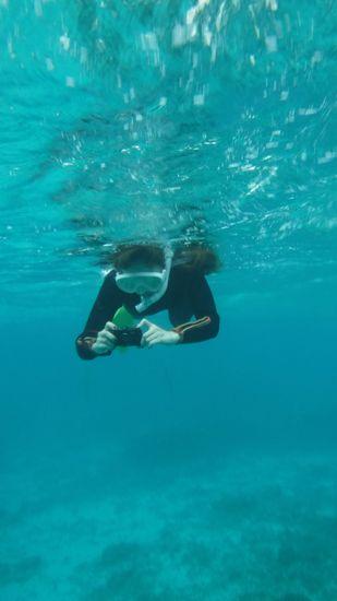 慣れれば、水中カメラで撮影を楽しんでいます。