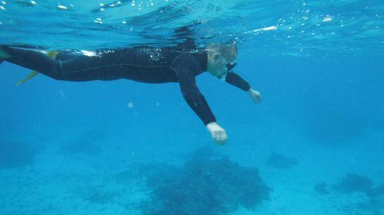 パワフルな泳ぎのS田さんです。
