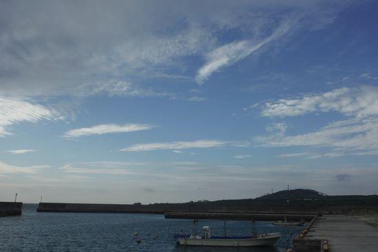 朝の天気は快晴でした
