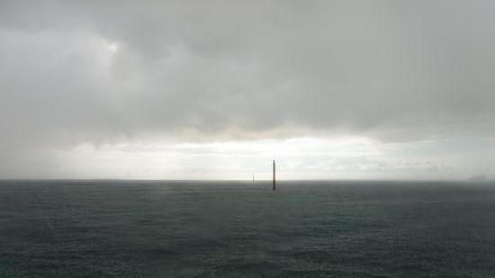 出港しようとすると雨で。。。