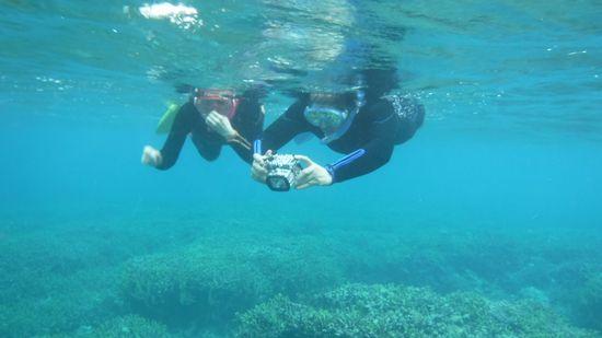 水中世界を思いっきり楽しんでいるH田さんご夫婦です。