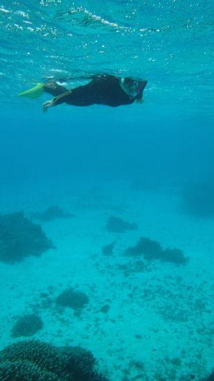M利さんは相変わらず余裕の泳ぎです。