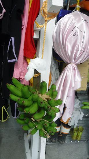 先日、落っこちていたバナナ。