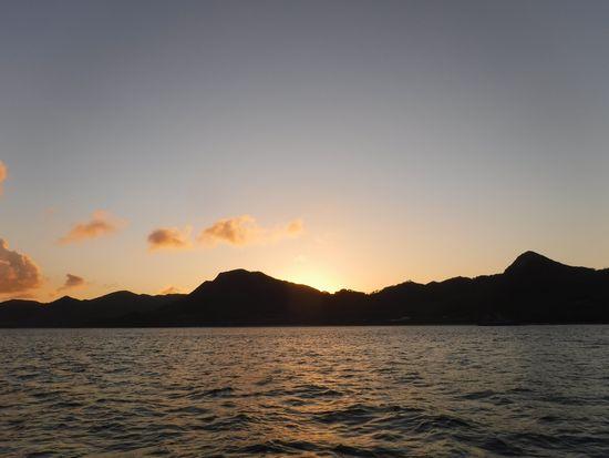 終わるころには、夕日が沈んでいます