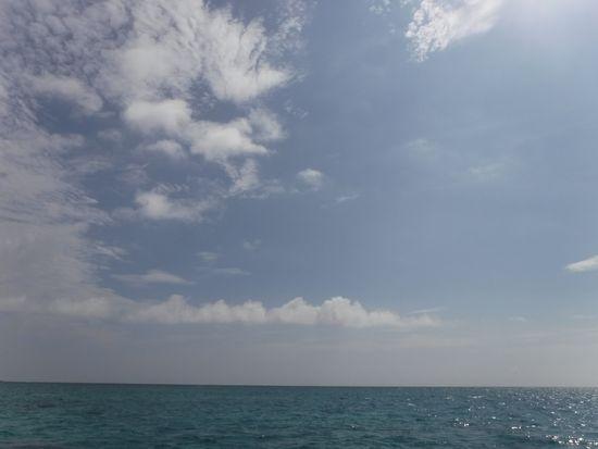 晴れときどき雲のお天気です