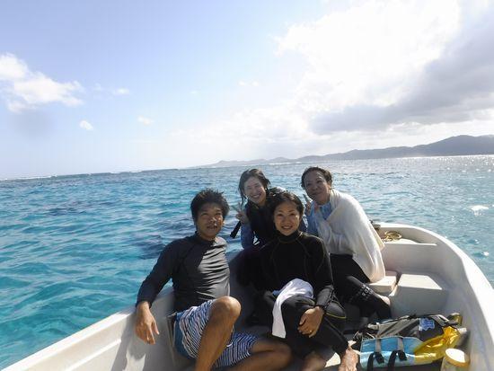 リピーターM島さんご夫婦とA川さんとO野さんです
