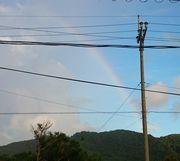 ほんのり虹です。
