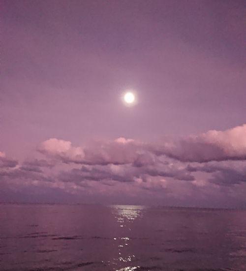 神秘的な月の出ですね
