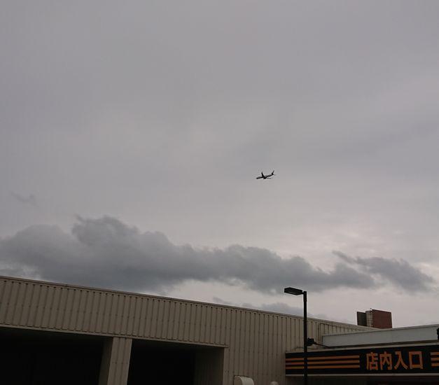 屋上から飛行機が見える場所