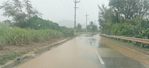 道路が冠水