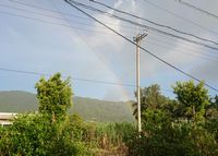 通り雨とともに虹の登場