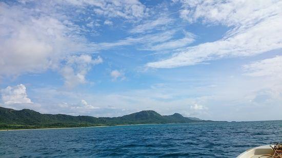 青空が広がったり曇ったりの天気です。