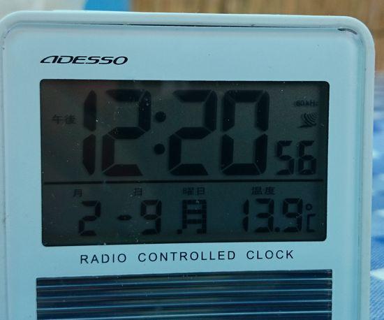 気温が13度。。。