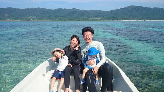 三歳のイブキ君と1歳のカナデ君。Y岡さんご家族です