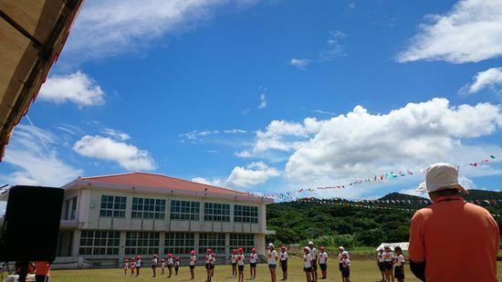 運動会日和のお天気です
