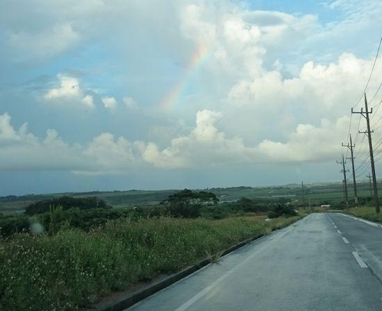 虹と晴れ間の見える天気でしたが、