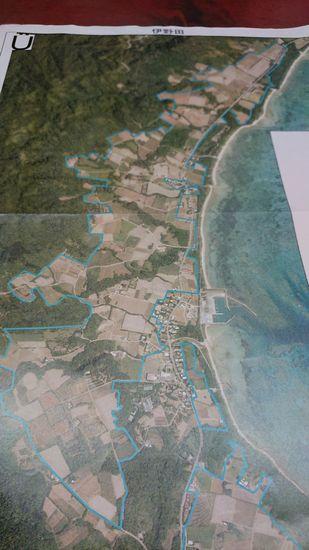 集落の航空写真
