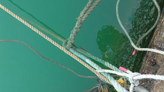 ボートの係留ロープには
