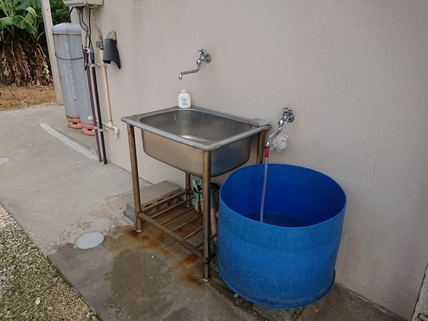 事務所前の手洗い所
