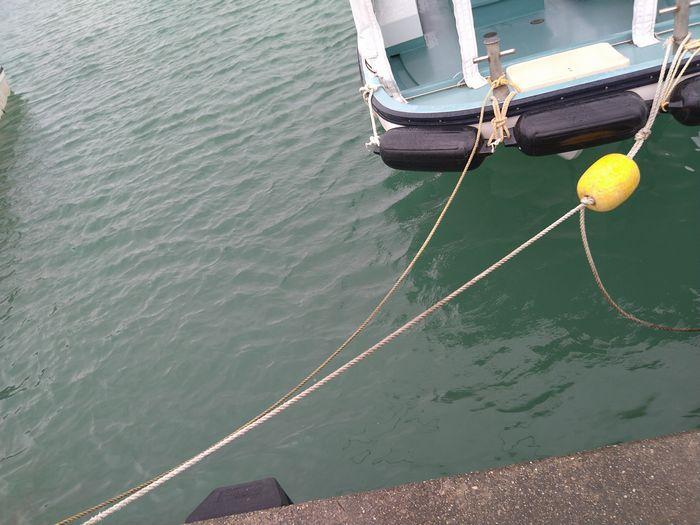 ボートを止めているロープ