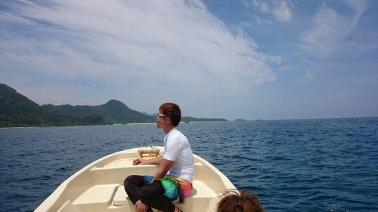 空を海を眺めるM尾旦那さんです
