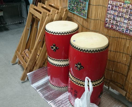 太鼓が事務所に。。。